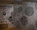 Rundes / Handabrieb auf Stoff / Städt. Galerie Bieitigheim-Bissingen