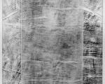 Zwischentöne I / Holzabrieb auf Gaze / 150 x 150 cm