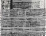 Zwischentöne II / Holzabrieb auf Gaze / 150 x 150 cm