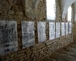 Spuren / Holzdruck auf Papier / Septfontaines