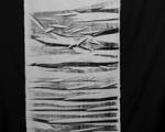 Experimenteller Druck auf Gewebe / ca. 280 x 55 cm