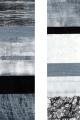 Rebus Schwarz-Weiß, Weiß-Schwarz / experimenteller Druck auf Papier / 143 x 39 cm