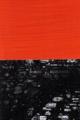 Rebus Schwarz-Rot / experimenteller Druck auf Papier / 143 x 39 cm