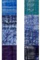 Rebus Blau / experimenteller Druck auf Papier / 143 x 39 cm
